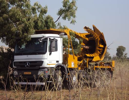 We launched a one of a kind mobile tree transplanting equipment