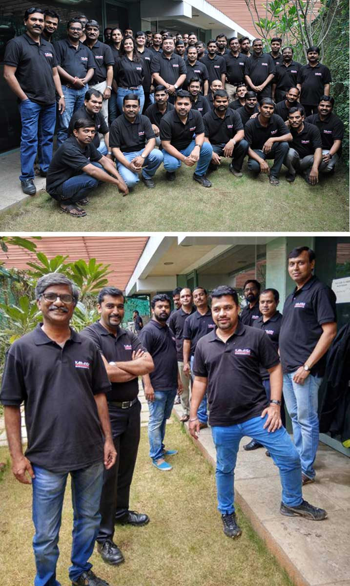 Look who got new fancy Men in Black Uniforms! All of Us! Our KAEE team looks dashing in their new KAEE polo tshirts!