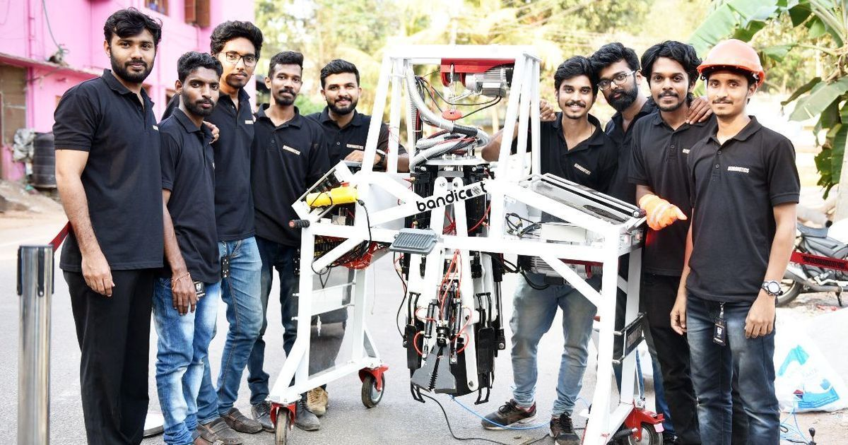Kerala engineers deisgn a robot to clean Indian manholes